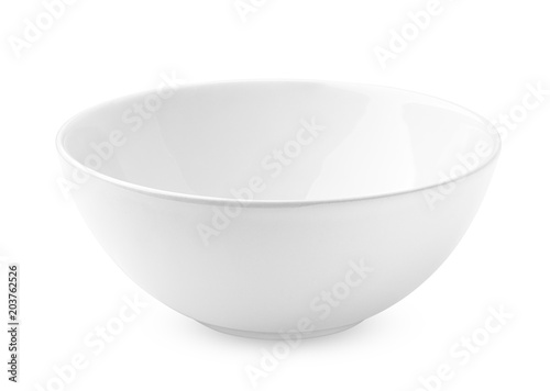Foto bowl empty, isolated on white background, clipping path, full depth of field