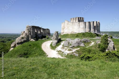 Deurstickers Kasteel Les Andelys- Château Gaillard