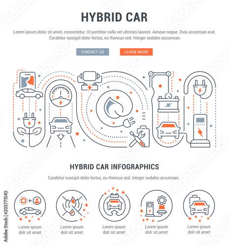 Foto  Website Banner und Landing Page von Hybrid Car.