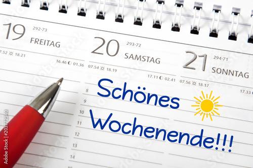 Fotografía  Eintrag im Kalender: Schönes Wochenende!