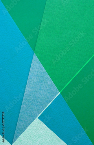 blue and green color paper design - textured background - 203777359