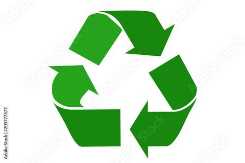 Photo Símbolo verde de reciclaje.