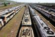 Trains sur voie de garage