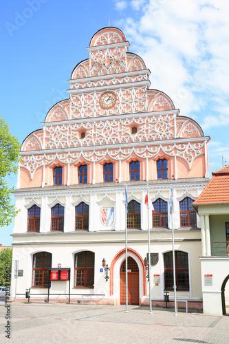 Foto op Plexiglas Artistiek mon. The historic town hall in Stargard Szczecinski, Pomerania, Poland