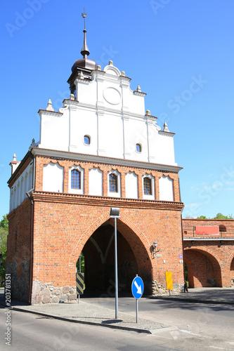 Poster Artistiek mon. Medieval town gate in Stargard Szczecinski, Pomerania, Poland