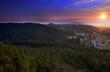 Sunset, view from Drabske Svetnicky, Bohemian paradise on Dneboh village