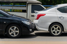 Car Crash From Car Accident On The Road In Wait Insurance.