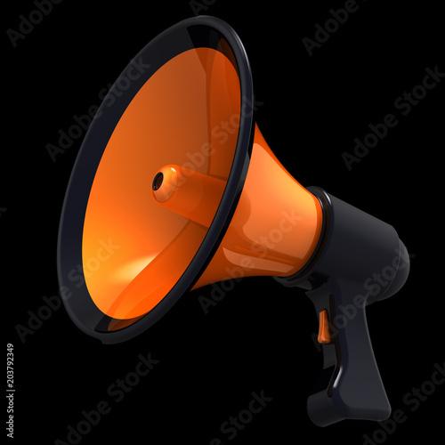 Megaphone news blog loudspeaker communication announce attention megaphone news blog loudspeaker communication announce attention symbol bullhorn orange icon propaganda agitation advertising publicscrutiny Gallery