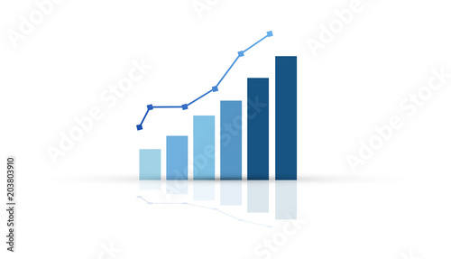 grafico economia, istogrammi, statistiche Wallpaper Mural