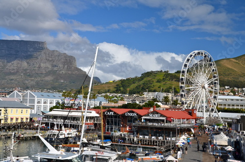Victoria and Alfred Waterfront scenic view in Cape Town, South Africa Billede på lærred
