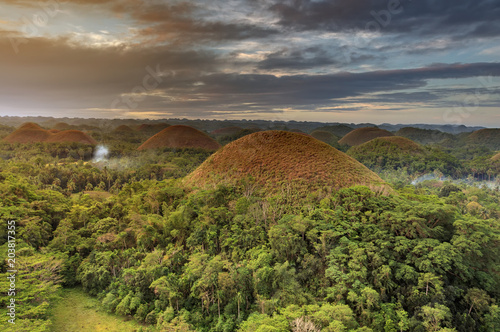 Foto op Aluminium Heuvel Spectacular look at the chocolate hills, Bohol, Philippines
