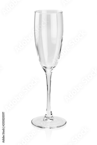 Obraz na plátně Empty wine glass isolated