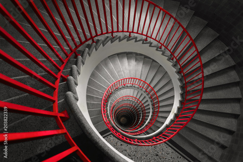 Fotografie, Tablou  Spiral staircase, abstract wallpaper