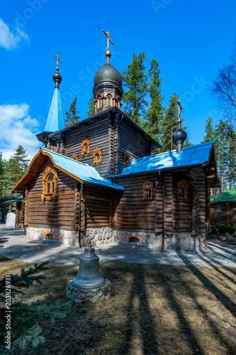 Papiers peints Edifice religieux Church of Our Lady Konevskaya. Leningrad region, Russia.