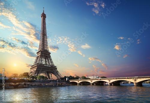 In de dag Centraal Europa Bridge Iena in Paris