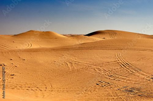 Foto op Aluminium Zandwoestijn Sands of the Sahara desert, sand waves, barkhans