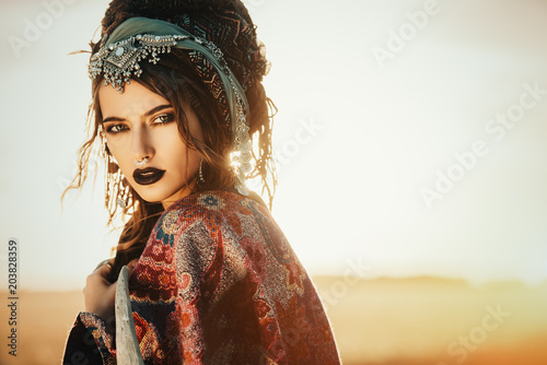Photo sur Aluminium Gypsy boho style clothes