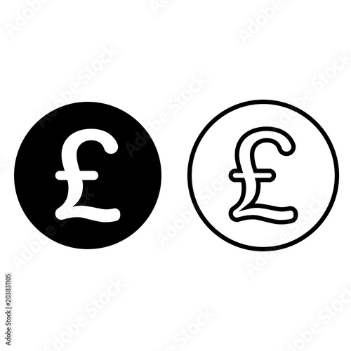 Pound Sterling Currency Symbol Icon Buy This Stock Vector And
