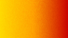 Abstract Background Of Zeros Ad Ones In Yellow And Orange Colors.