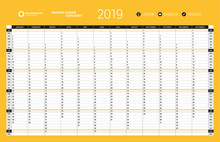 Yearly Wall Calendar Planner T...
