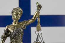 Human Rights Act And Justice Concept , Finland Flag