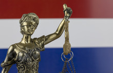Human Rights Act And Justice Concept ,Netherlands, Holland Flag