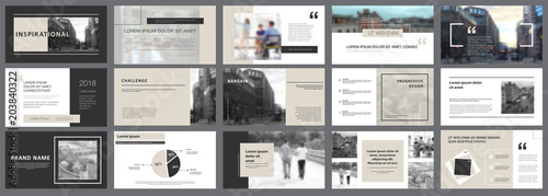 Grey and black consulting or planning concept infographics set Fototapet