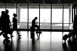 Passengers inside airport