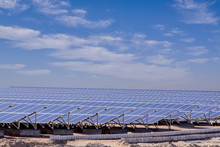 Station Of Solar Panels In The...