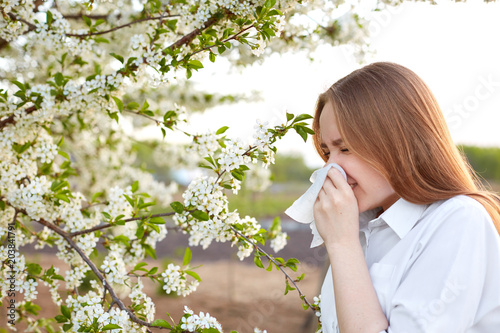 Pollen allergy symptom Canvas Print