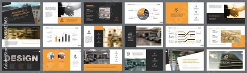 Fényképezés Fifteen Business Slide Templates Set