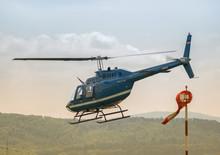 Startender Hubschrauber