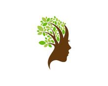 Beauty Tree Icon Logo Design Element