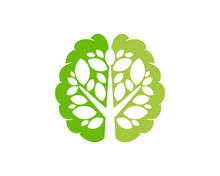 Brain Tree Icon Logo Design El...