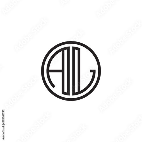 Initial Letter Al Minimalist Line Art Monogram Circle Shape Logo Black Color Buy This Stock Vector And Explore Similar Vectors At Adobe Stock Adobe Stock