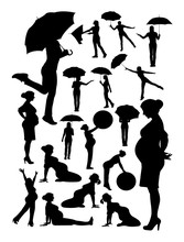 Woman Detail Silhouette. Vector, Illustration. Good Use For Symbol, Logo, Web Icon, Mascot, Sign, Or Any Design You Want.