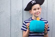 Happy Boy In A Pirate Costume ...