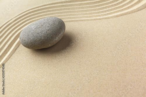 Foto op Plexiglas Stenen in het Zand zen garden meditation stone background