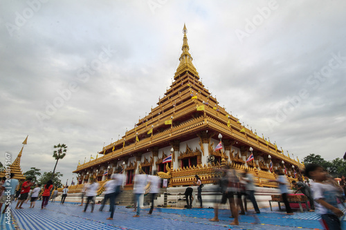Tuinposter Temple Phra Mahathat Kaen Nakhon, Temple Khon Kaen Thailand