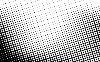 Black and white dotted half...
