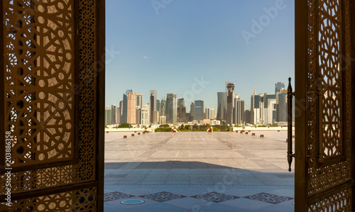 Papiers peints Lieu connus d Asie Doha, Qatar - View from the doors of The Grand Mosque in Doha