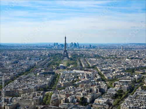 In de dag Parijs vue de Paris et de la Tour Eiffel depuis la Tour Montparnasse