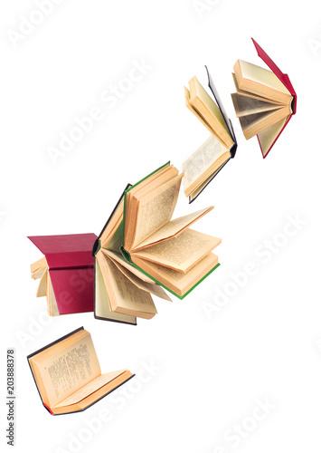 Photo old falling books