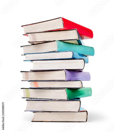 Carta da parati Stack of books isolated on a white background