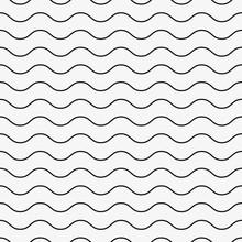 Wavy, Waving Horizontal Lines Seamlessly Repeatable Seamless Pattern
