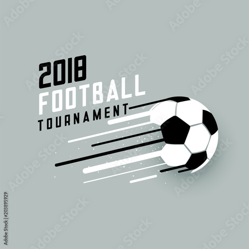 Photo  2018 football tournament background with abstract soccer ball