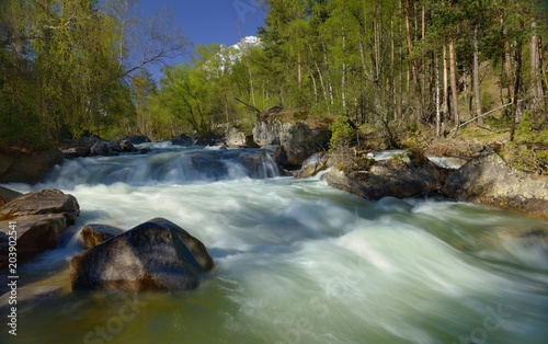 Foto op Canvas Rivier River in mountains