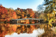 Indian Summer over Bow Bridge in Central Park