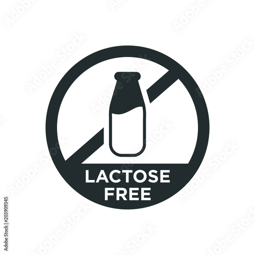 Fototapeta  Lactose free icon. Vector illustration.