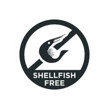 Shellfish Free Icon. Vector Illustration.